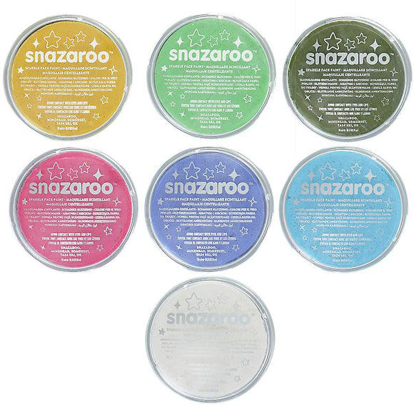 Snazaroo Sparkle & Metallic colours 18ml