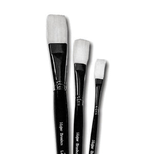 White Flat Synthetic Brushes
