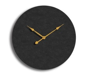 Black & Gold Circle Clock