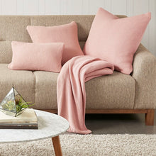 Load image into Gallery viewer, Bree Knit Throw Blanket Coral