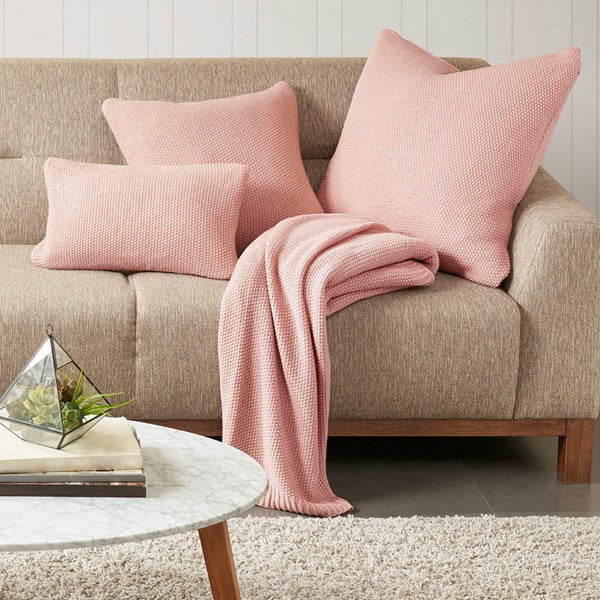 Bree Knit Throw Blanket Coral