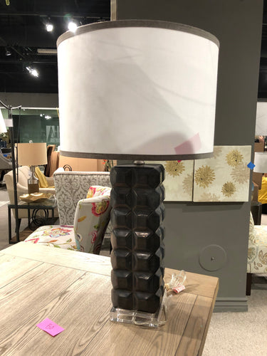 Black Squares Table Lamp