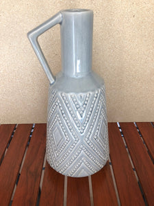 Pale Blue Handcrafted Diamond Ceramic Vase