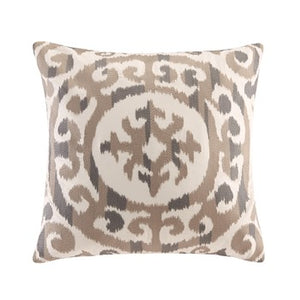 Mead Natural Cotton Embroidered Medalian Pillow