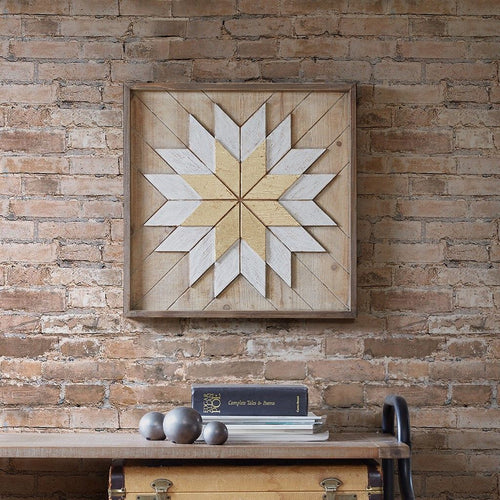 Solis Framed Wood Star