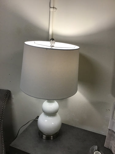 Ellipse White Table Lamp