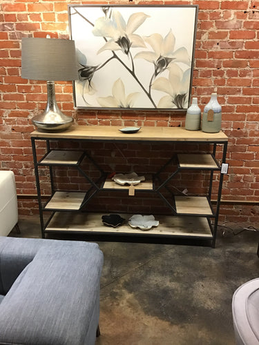 Melia Metal Floating Shelf Console