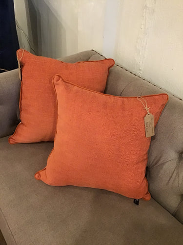 Orange Newport Throw Pillow