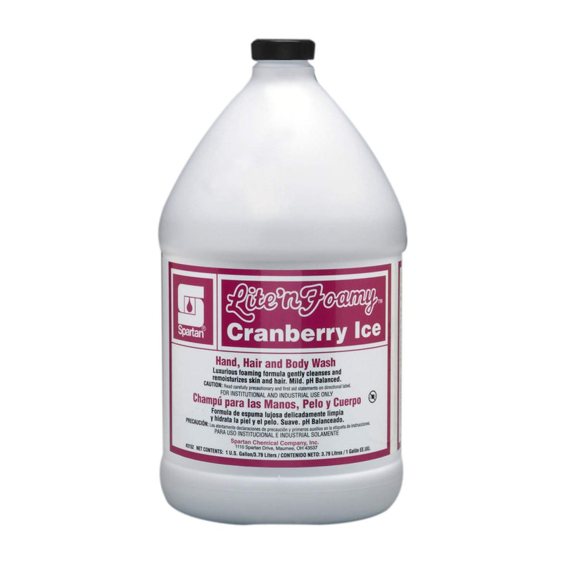 Lite'n Foamy® Cranberry Ice Hand, Hair and Body Wash - 1 Gallon Refill - 4 Bottles / Case