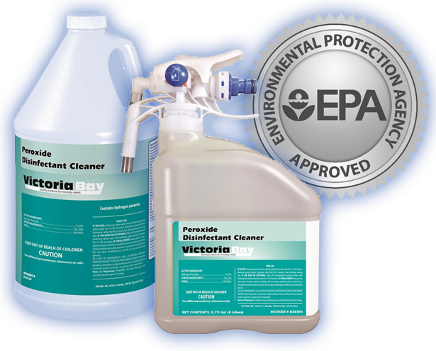 Victoria Bay Peroxide Disinfectant Cleaner - 3 Liters - 2 Bottles / Case