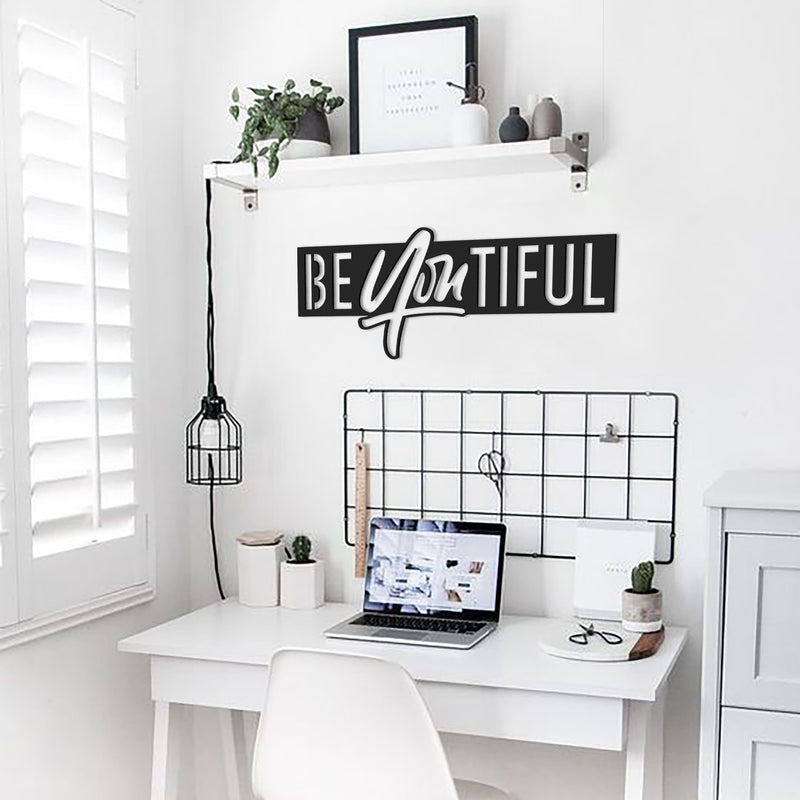 BEyouTIFUL - Metal Wall Art