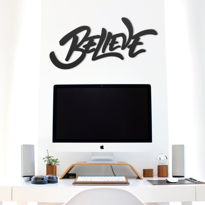 Believe - Metal Wall Art