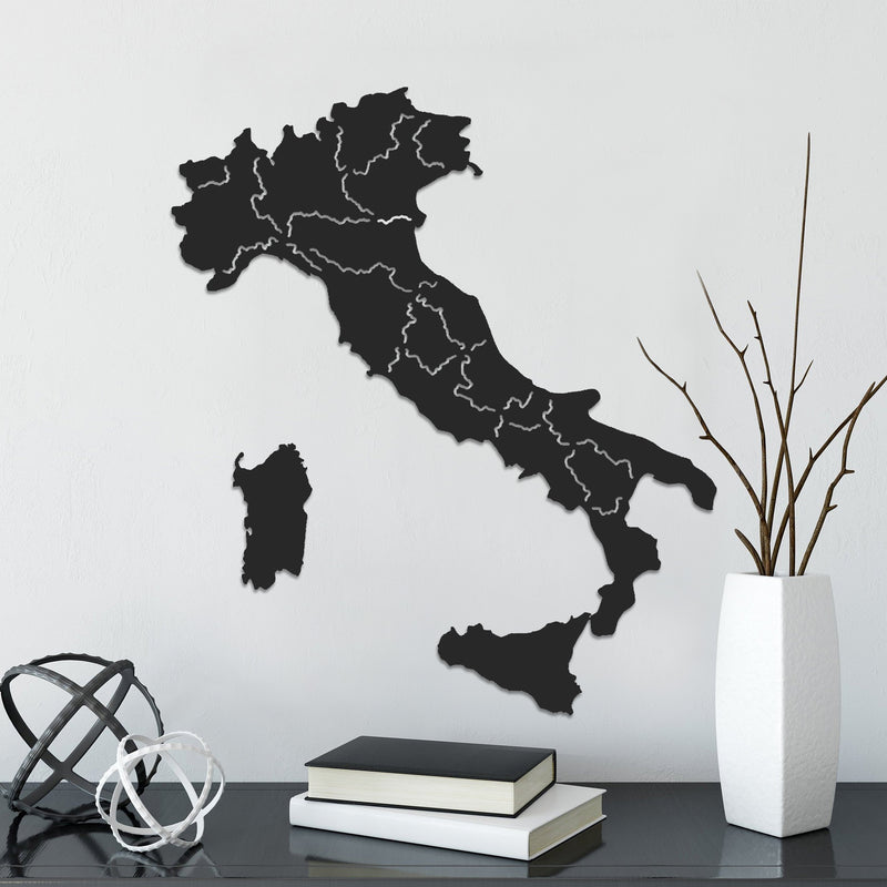 Italy Classic Map - Metal World Map