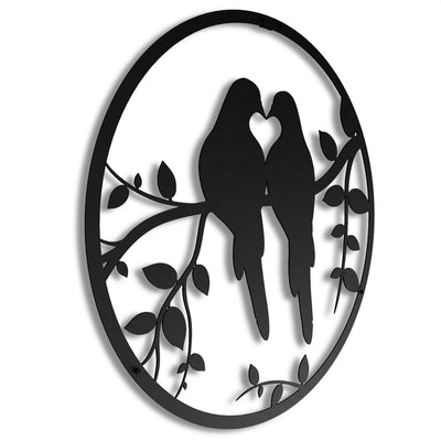 Love Birds - Metal Wall Art