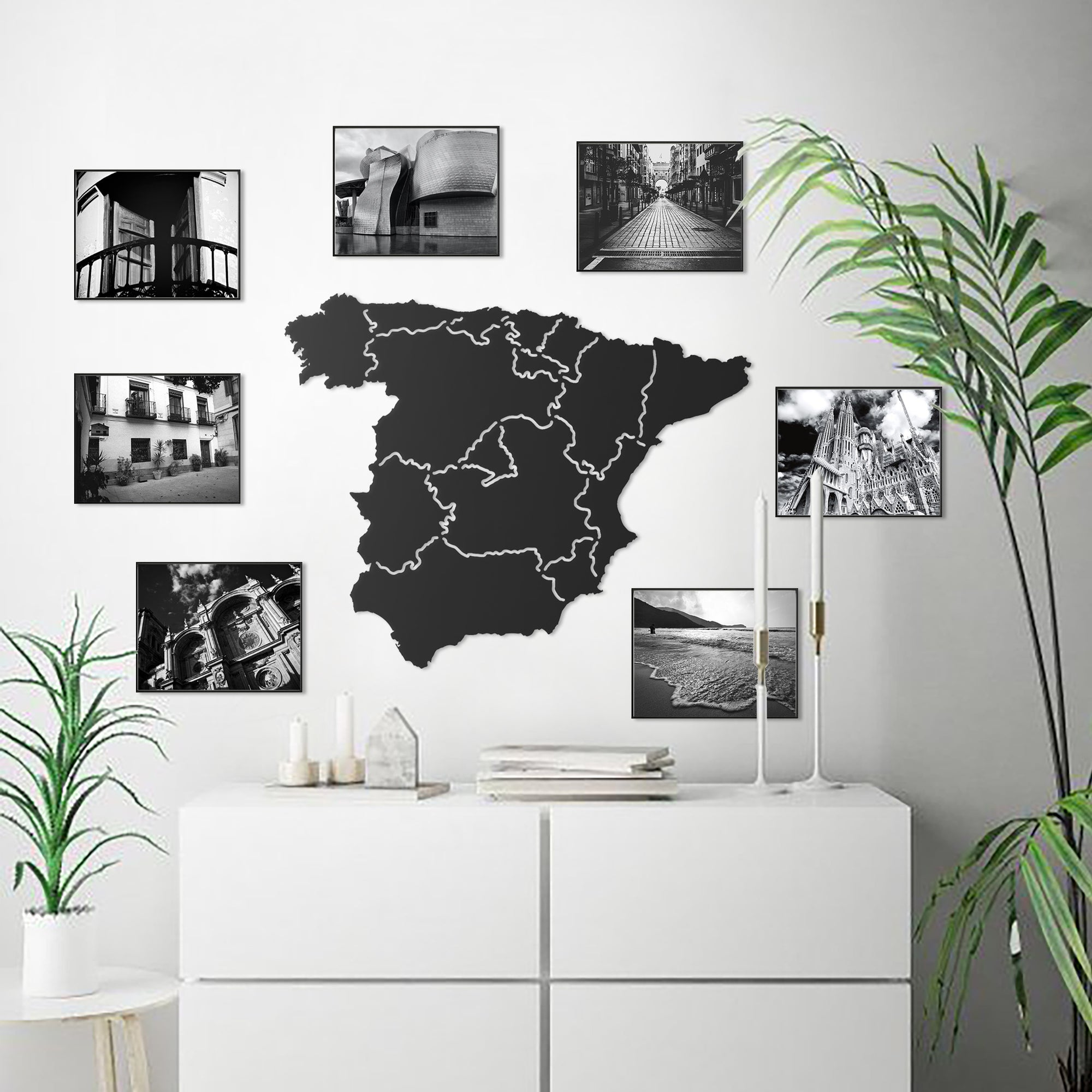 Spain Classic Map - Metal World Map