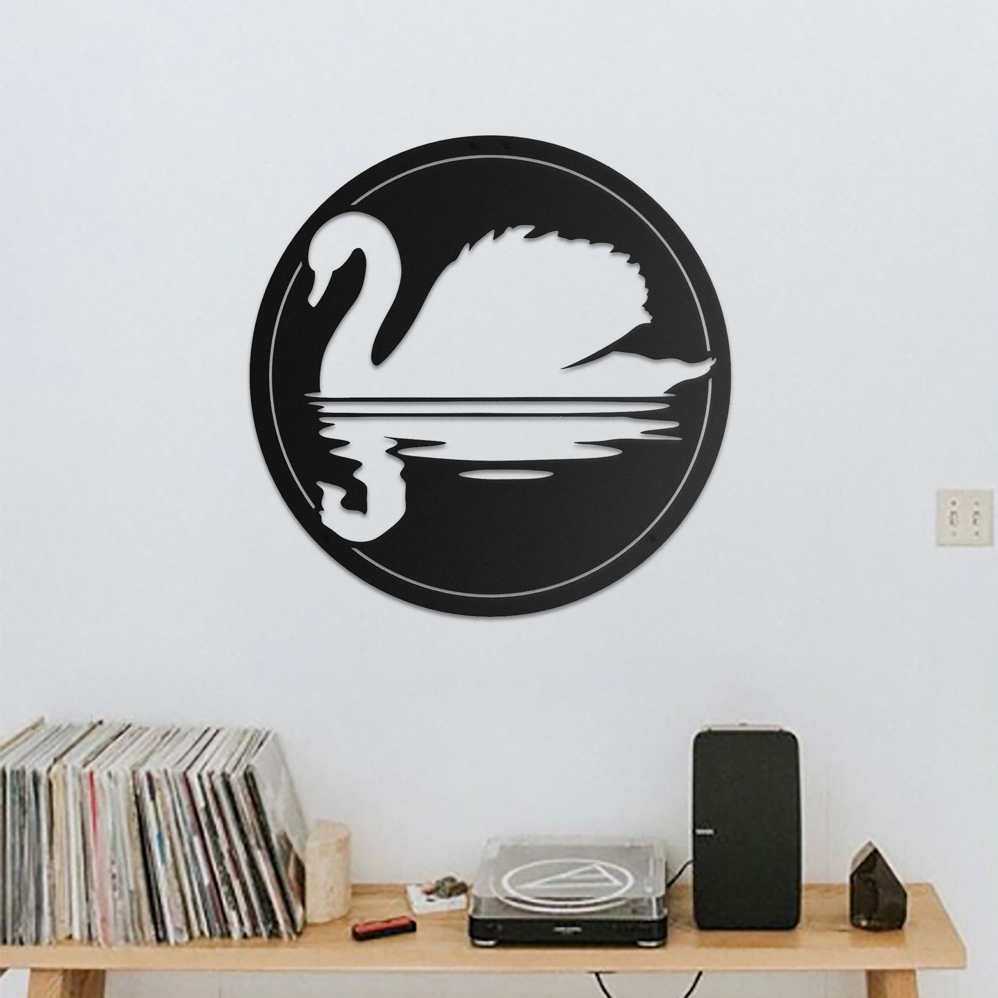 Swan Lake - Metal Wall Art