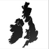 British Isles Classic Map - Metal World Map