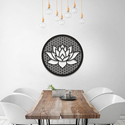Lotus Flower of Life - Metal Wall Art - Roamforge Metal Wall Art Decor Interior Decoration