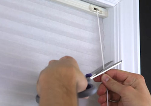How To Restring A Graber And Bali Cellular Honeycomb Shade Fix My Blinds Inc