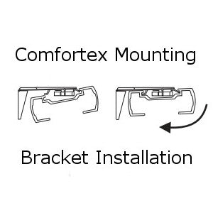 Comfortex Mounting Bracket for Cellular Honeycomb Shades