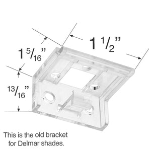 Delmar Mounting Bracket for Pleated and Honeycomb Shades - Updated Style