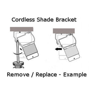 "Graber CrystalPleat Mounting Bracket for Cordless Operated Cellular Shades with a 2 1/8"" Headrail"