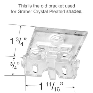 Graber CrystalPleat & Bali Diamond Cell Mounting Bracket for Cellular Shades - Current Style