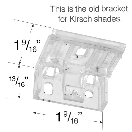 Kirsch Mounting Bracket For Cellular And Pleated Shades