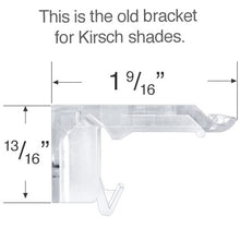 Load image into Gallery viewer, Kirsch & Verosol Mounting Bracket for Honeycomb & Pleated Shades - Revised and Updated Style