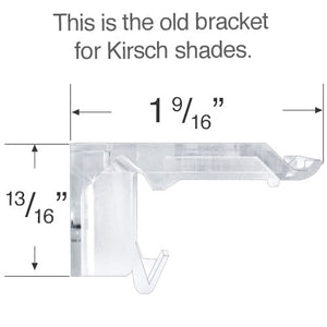 Kirsch & Verosol Mounting Bracket for Honeycomb & Pleated Shades - Revised and Updated Style