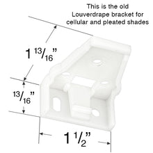 Louverdrape Mounting Bracket for  Cellular, Honeycomb and Pleated Shades - Revised and Updated Style