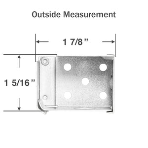 "Box Mounting Brackets for 1"" Mini Blinds With 1"" by 1 1/2"""