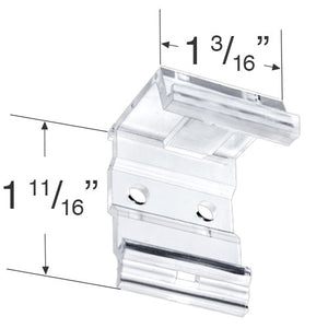 "Plastic Mounting Bracket for 1"" Mini Blinds"