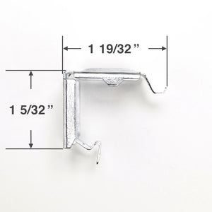 "Levolor Hidden Metal Mounting Bracket for 1"" Trim-and-Go Mini Blinds"