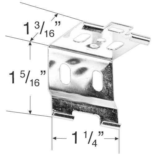 Rollease Mounting Bracket for Honeycomb Shades with the Versarail System