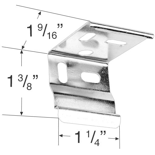Rollease Mounting Bracket for Honeycomb Shades and Cassette 80 Roller Shades - VRBK15