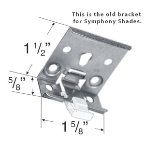 Comfortex Mounting Bracket for Symphony Honeycomb Shades - Updated, Improved Style