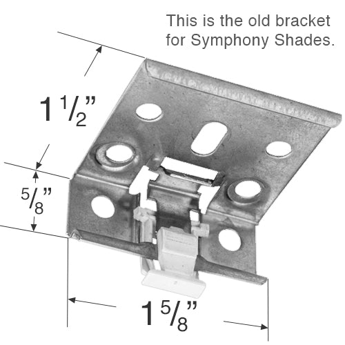 Comfortex Mounting Bracket for Symphony Honeycomb Shades
