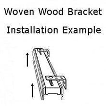 Mounting Bracket for Board-Mounted Woven Wood and Roman Shades