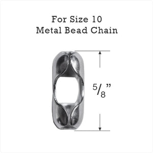 Metal Bead Chain Connector for Size #10 Chain