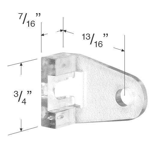 Set of Plastic Hold Down Brackets for 1