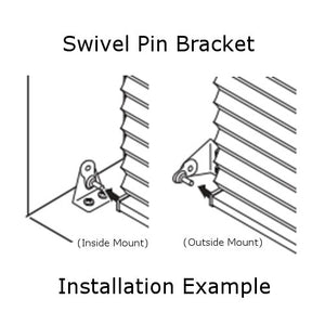 "Graber and Bali Metal Hold Down Bracket for 1"" Mini Blinds"