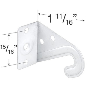 "White Metal Hold Down Bracket Set for 2"" Horizontal Blinds"