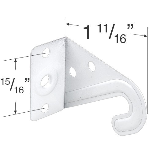 White Metal Hold Down Bracket Set for 2