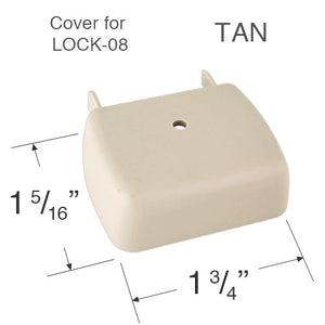 "Comfortex Cord Lock Cover for Cellular Honeycomb Shades - 1 3/8"" Wide Headrails"