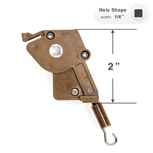 "Wand Tilt Mechanism for High Profile Head Rails with a 1/4"" Square Hole"