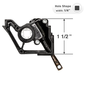 "Bali and Graber Wand Tilt Mechanism for Low Profile Head Rails with a 1/4"" Square Hole - Eyelet Stem"