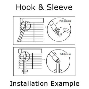 Tilt Mechanism Hook for Horizontal Blinds