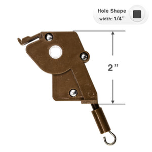 "Wand Tilt Mechanism for High Profile Head Rails with a 1/4"" Square Hole - Brown"