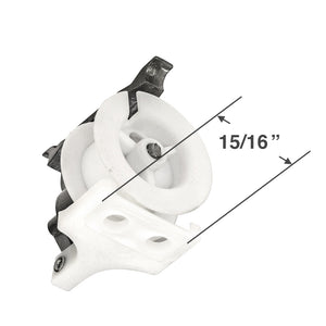 "Cord Tilt Mechanism for High Profile Head Rails with a 1/4"" Square Hole - Large Foot - * NO CORD *"